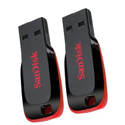 SanDisk Cruzer Blade USB 2.0 8 GB Utility Pen Drive With USB 2.0 16 GB Utility Pen Drive (Red & Black)