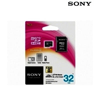 Sony Micro SD 32GB Memory Card With Adapter (Black)