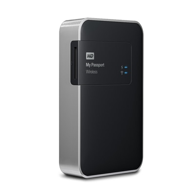 WD My Passport Wireless (WDBK8Z0010BBK-BESN) 1 TB Portable External Hard Drive (Black & Silver) - 23645703