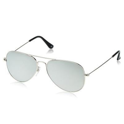 Calvin Haris Silver Aviator Sunglasses (UV Protected)