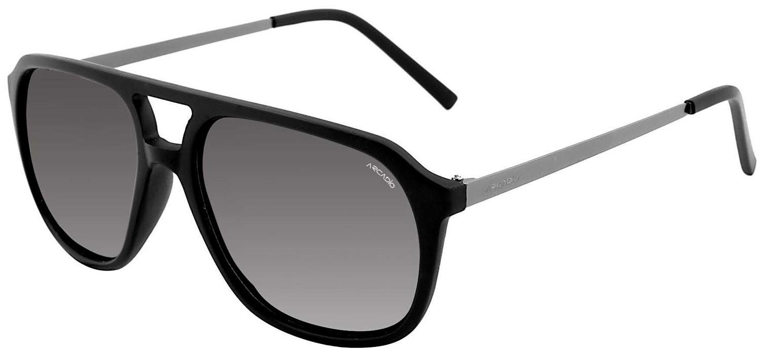ARCADIO - Unisex Hi-Fashion Sunglass (AR211 BK-GY)