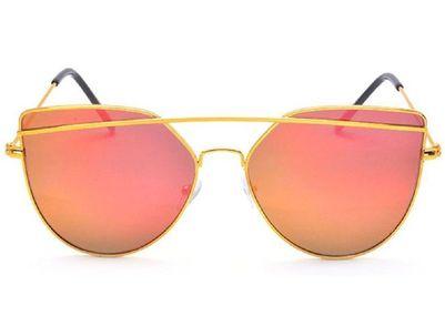 Imported Elegante Luxury Mirrored Red Rectangular Sunglasses (Model : elt-8102/M)
