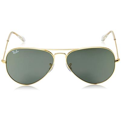 Ray-Ban 0Rb3025|Lo20558 Size 58 (Medium) Golden Green Aviator Sunglass