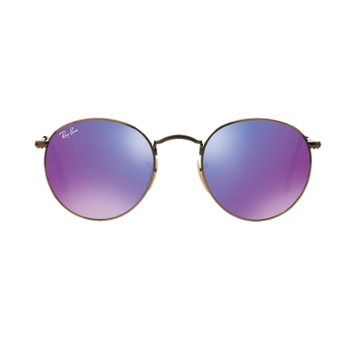 Ray-Ban Purple Round Sunglass (rb3447 167/1m 50)