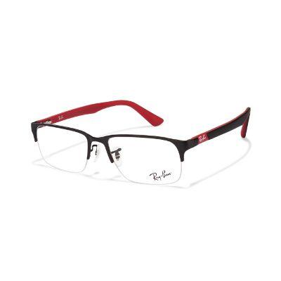 Ray-Ban Rx6305 2503 Size 54 Black Red Eyeglasses