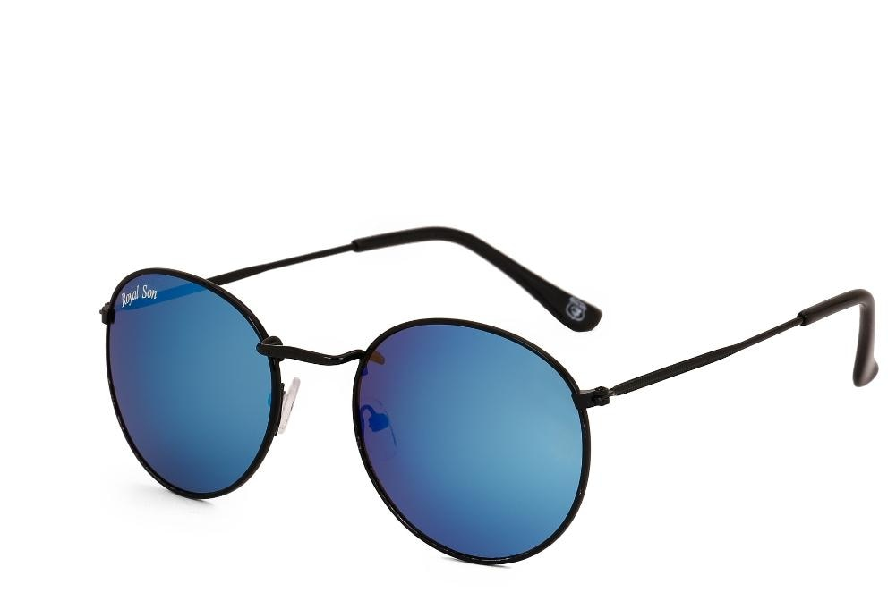 Royal Son Uv Protected Round Unisex Sunglasses (rs0034av|58|blue Mirrored Lens)