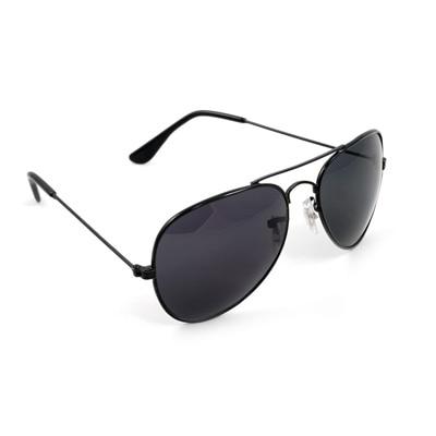 Super-X Black Aviator Sunglass (UV Protected) (Medium Size)