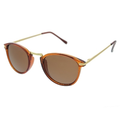 Vast Uv Protected Round Unisex Sunglasses (ipop_brown|52|brown)