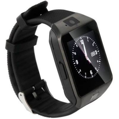 Advati DZ09 Smartwatch Compatible for iPhone (BLACK)