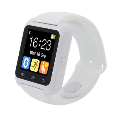 Advati U8 Smartwatch Compatible for SAMSUNG Mobile (WHITE)