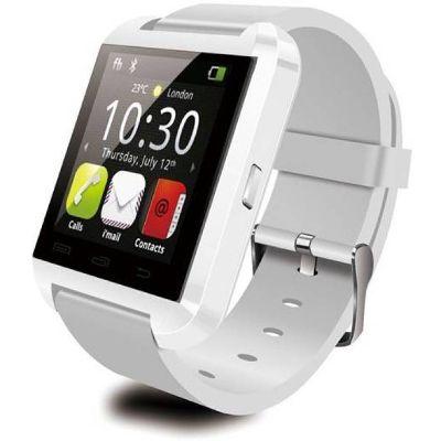Advati U8 Smartwatch Compatible for Vivo Mobile (WHITE)