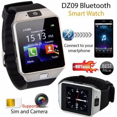 Advati DZ09 Smartwatch Compatible for Vivo Mobile (BLACK)