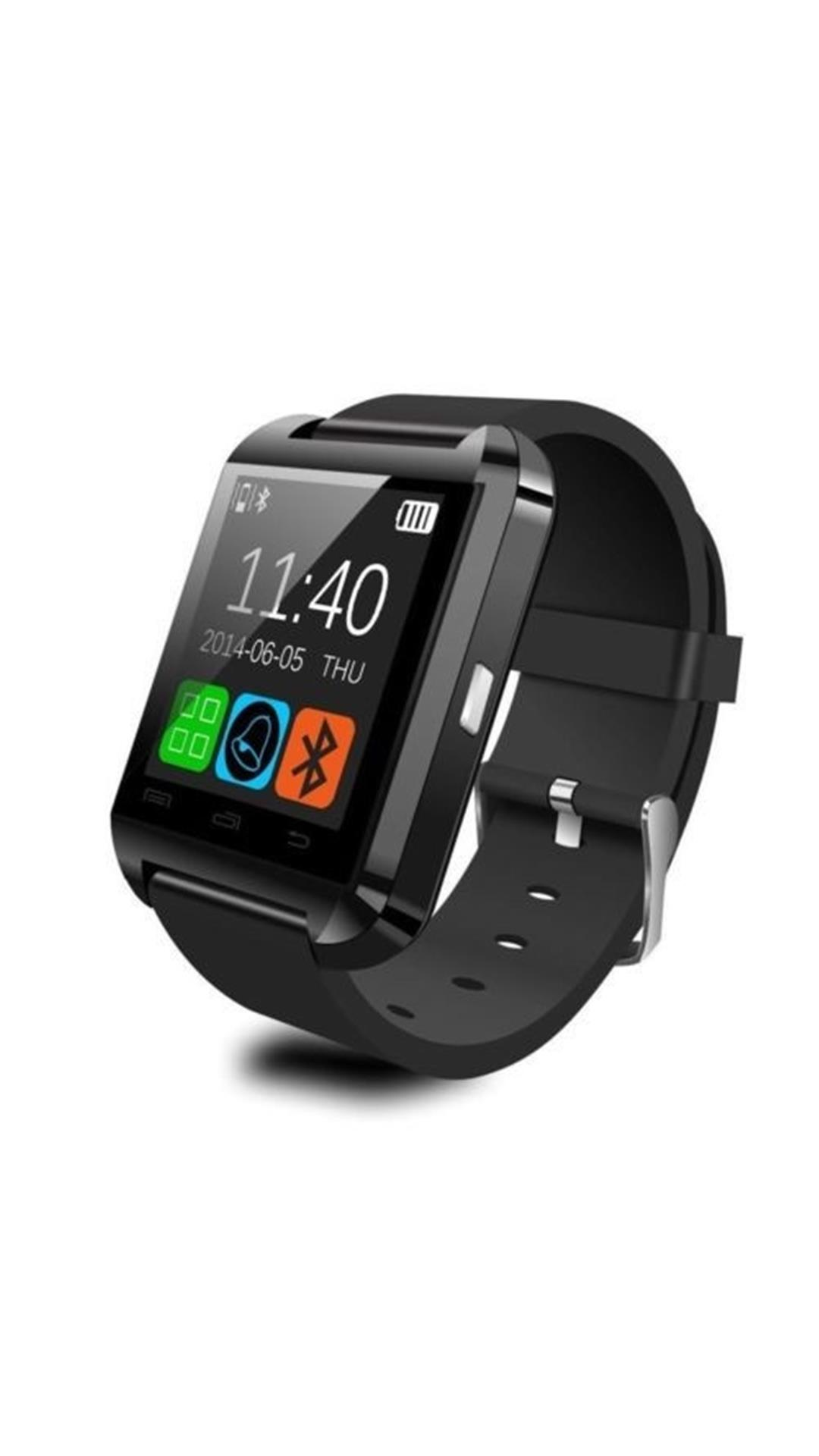 Bluetick Black U8 Smart watch with Free Mobile Screen Enlarger