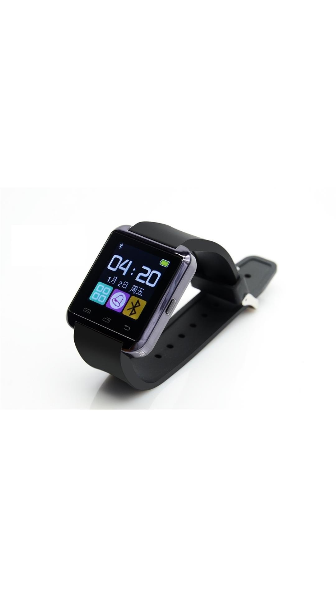 Bluetick Black U8 Smart watch with Free Laptop Keyboard LED Lights