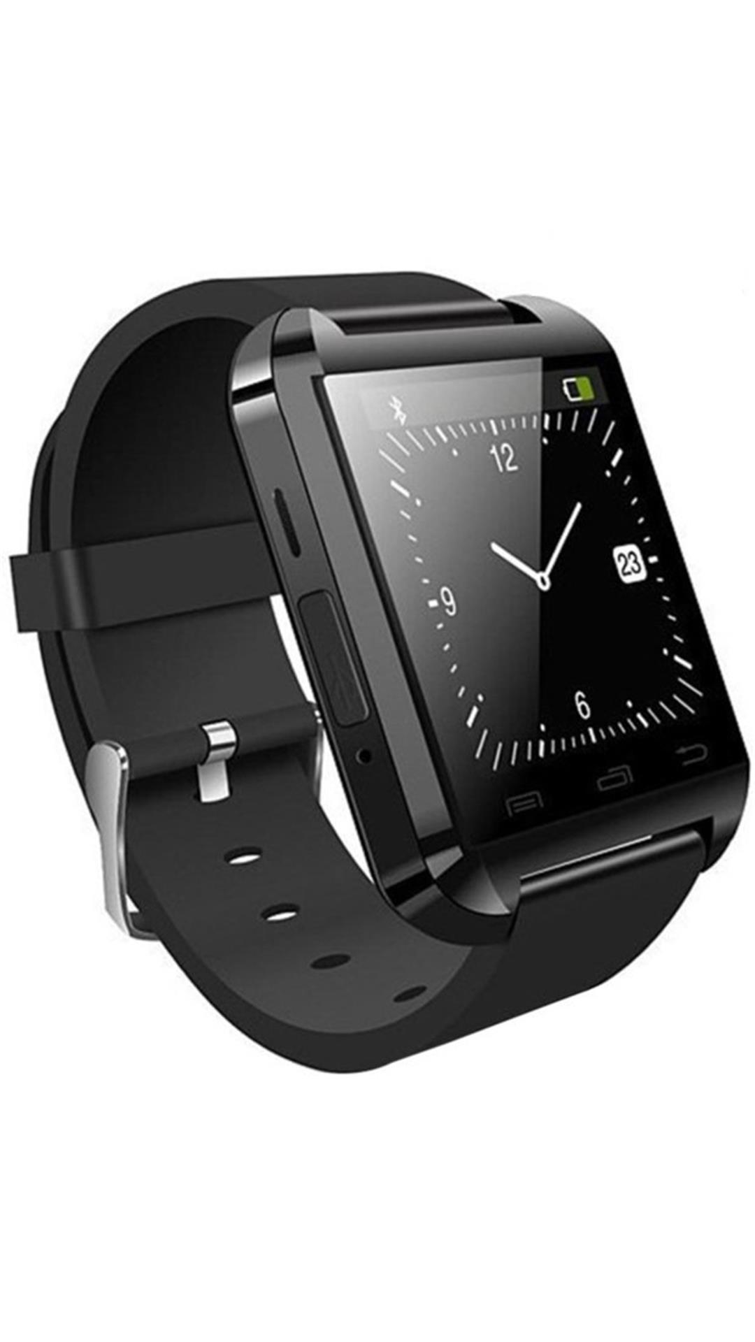 Bluetick Black U8 Smart watch with Free Stylish Selfie Stick
