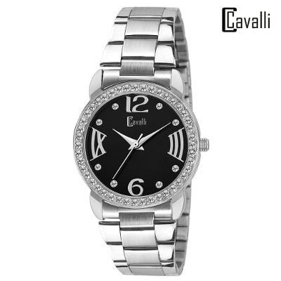 Cavalli Analogue Black Dial Elegant Watch-for Women;Girls