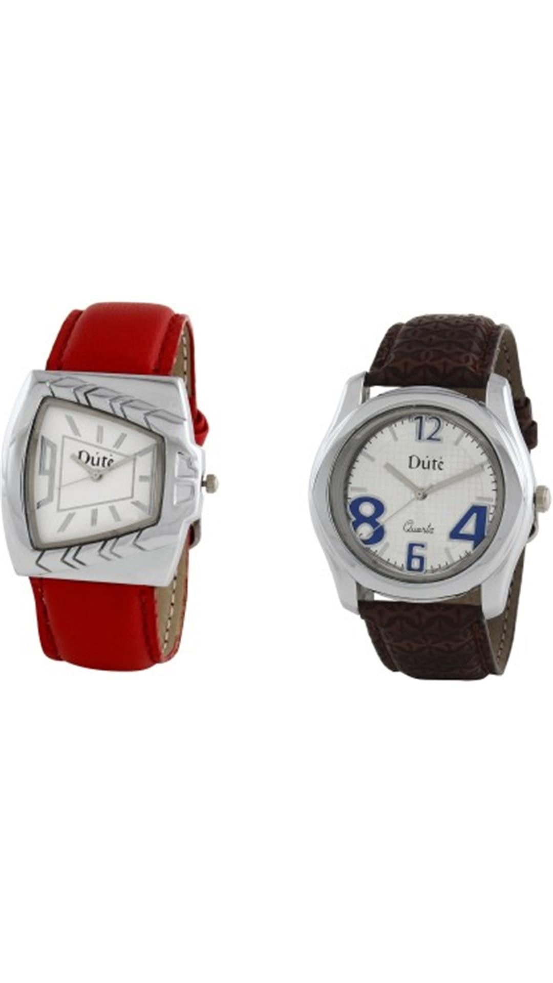 Dute DU0026 Analog Watch For Couple