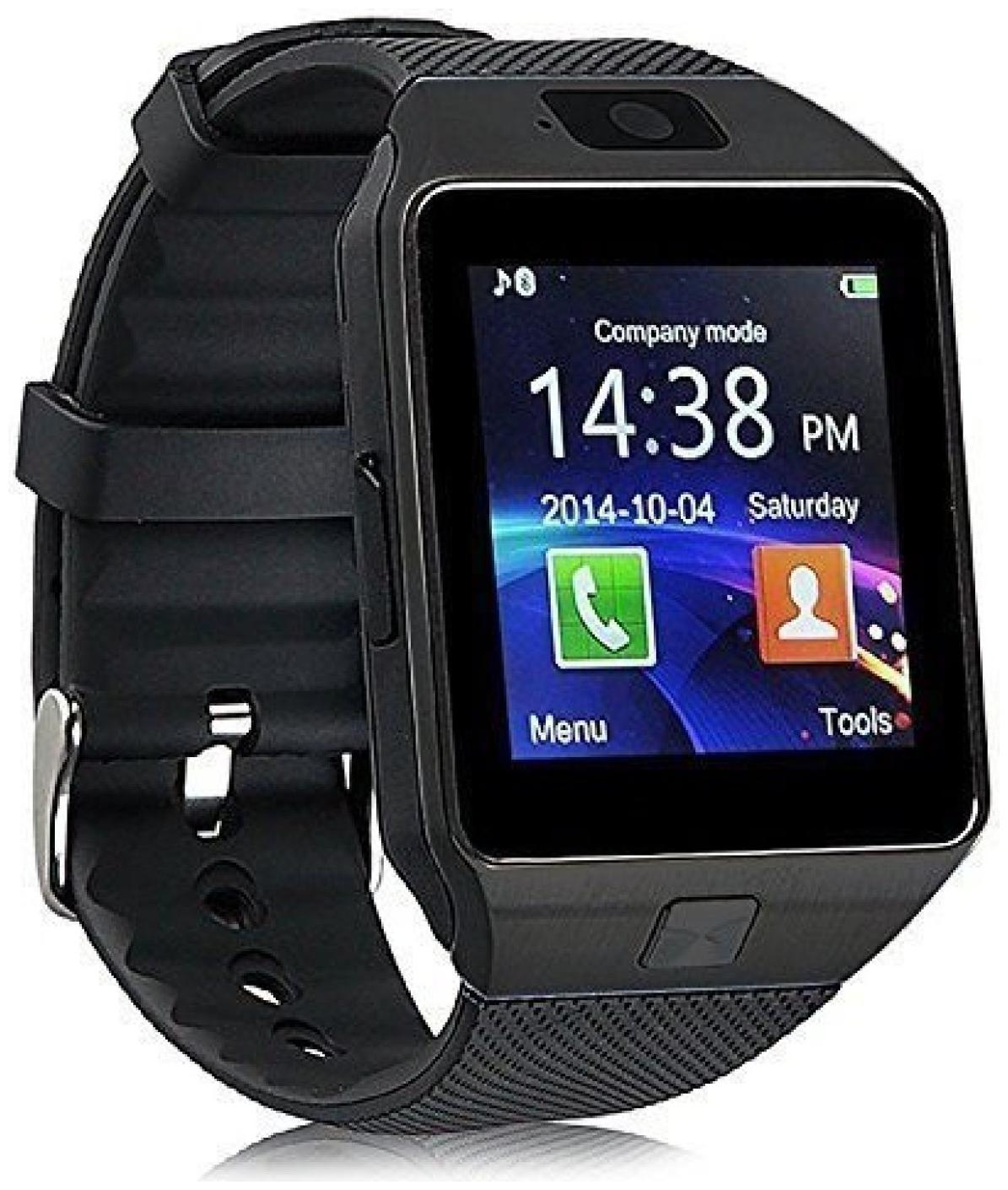 DZ09 Black Smartwatch (Black Strap Regular)