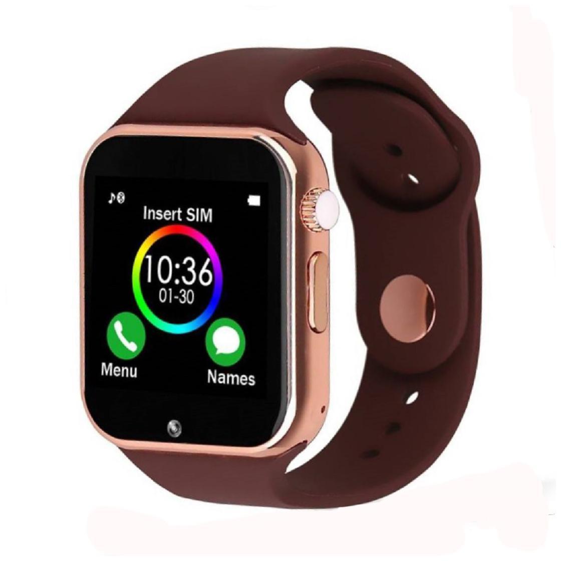 Gen-Y A1 Copper Brown Smartwatch with SIM Slot;Card Slot;Audio Player;Bluetooth;Camera