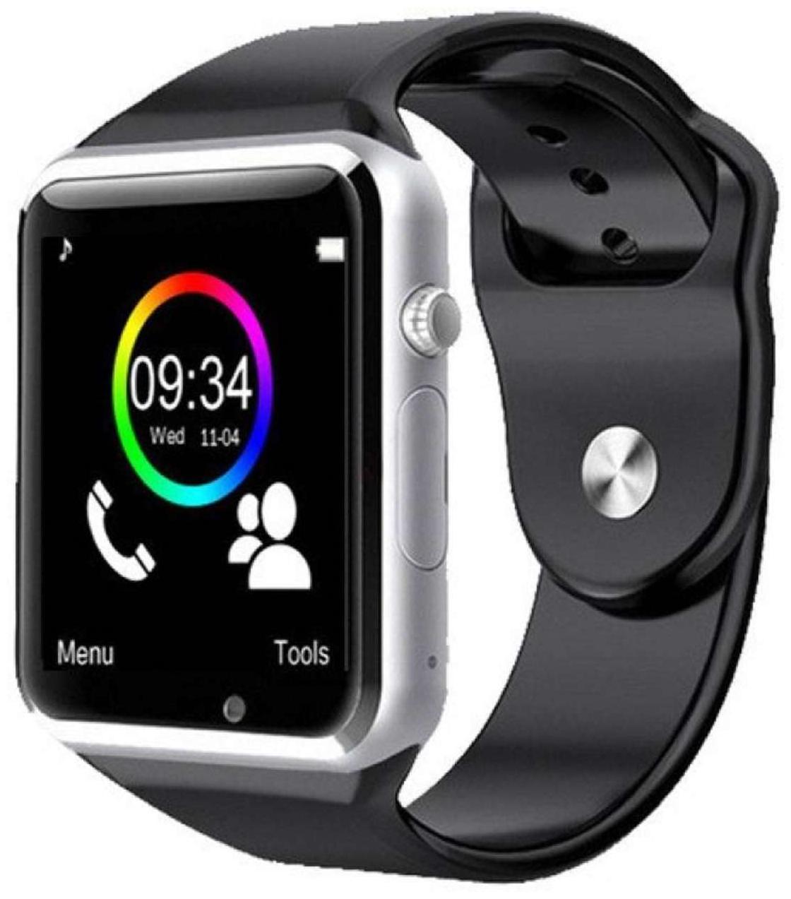 Gen-Y A1 Silver Black Smartwatch with SIM Slot;Card Slot;Audio Player;Bluetooth;Camera