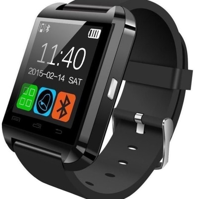 Hamee Go-Tech Black Smart Watch For Android & iOS