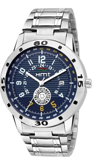 Upto 40% Paytm Cash On Watches By Paytm | Hemt HM-GR117-BLU-CH Day And Date Analog Watch - For Men @ Rs.359