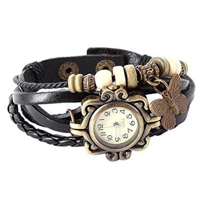 Jack klein Black Vintage Watch For Women