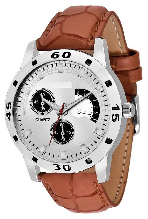 Miss Perfect Attractive Stylish Brown speed Collection Print Gift New Watch - For Men