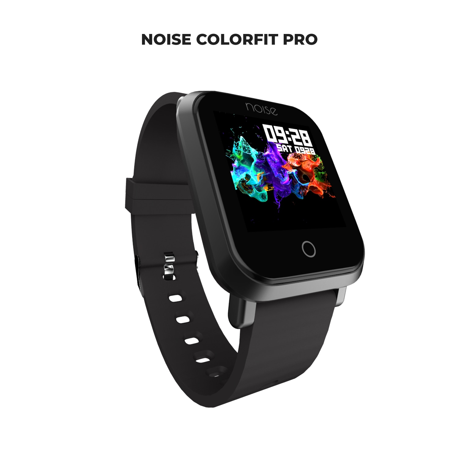 Noise ColorFit Pro Smartwatch - Classic Jet Black | Bluetooth Smart Band with Detachable Strap | Wide Screen Waterproof | Sports and Activity Tracker | Camera and Music Control Features