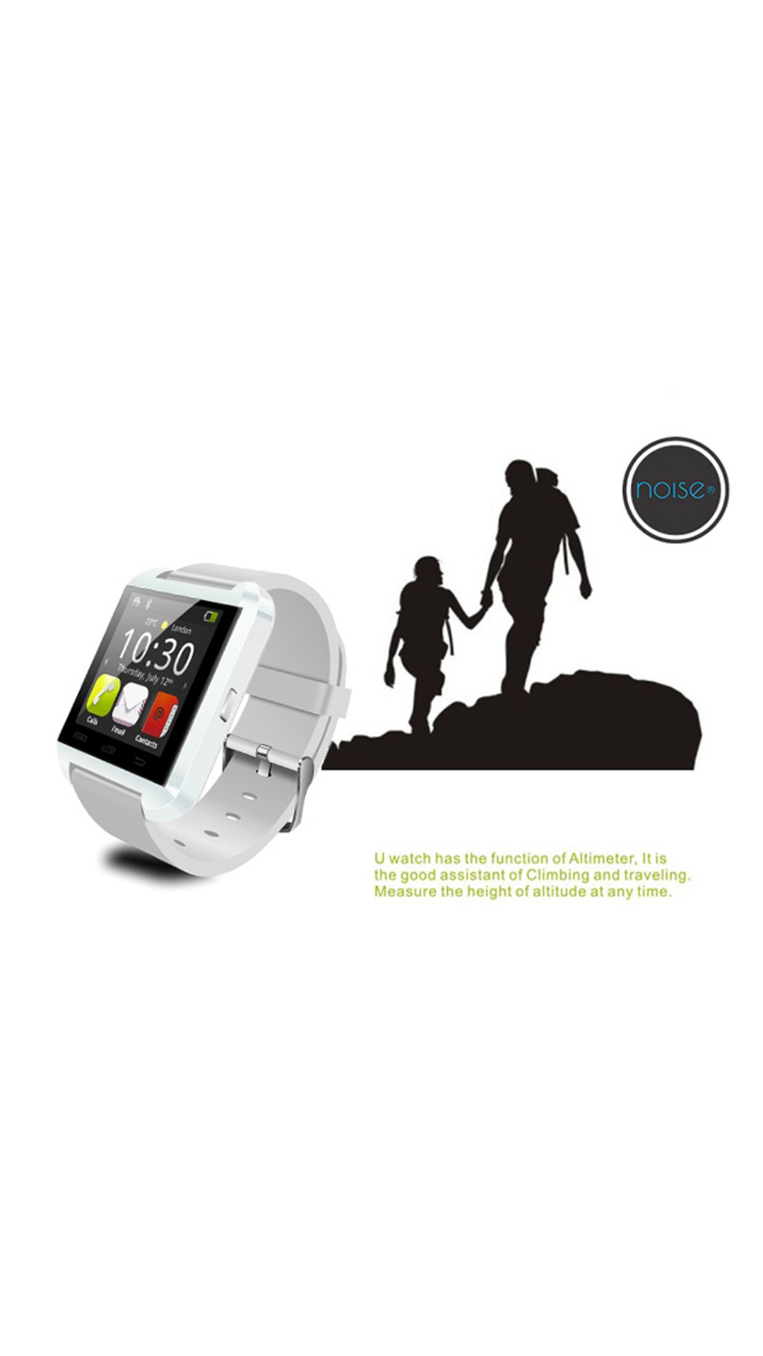 Noise u8 White Android Smart Watch compatible with IOS