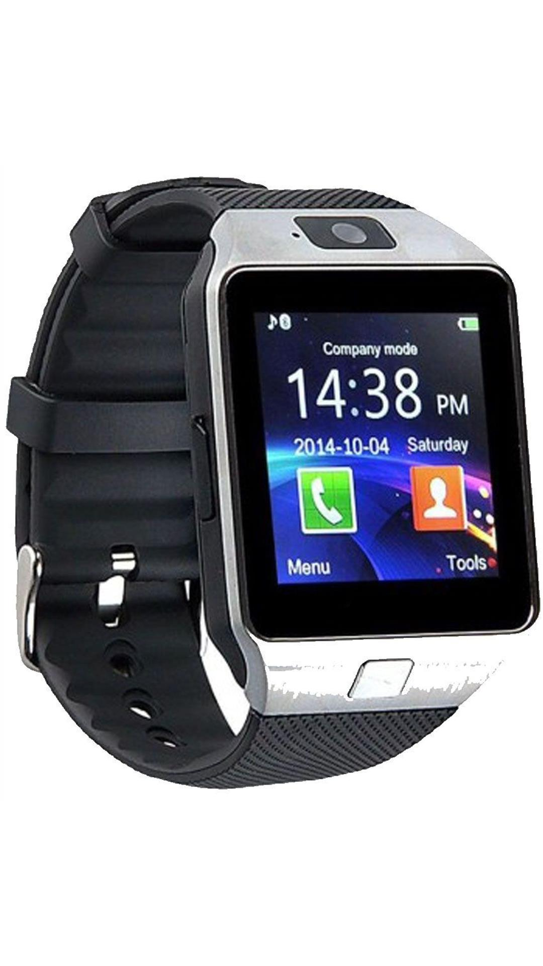 Pattern T30 Silver Bluetooth Smart Notification Smartwatch With Sim and Camera.