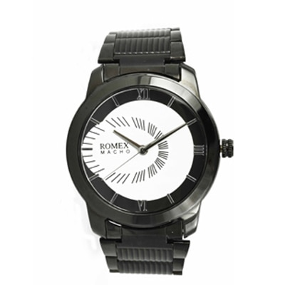 Romex Super Black Round Analog Watch