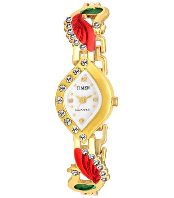 Timer Stylish Peacock Analog Watch for Girls