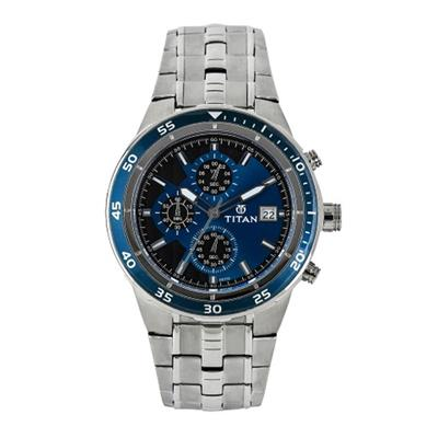 Titan  Nc9466Km04J Men Chronograph Watch
