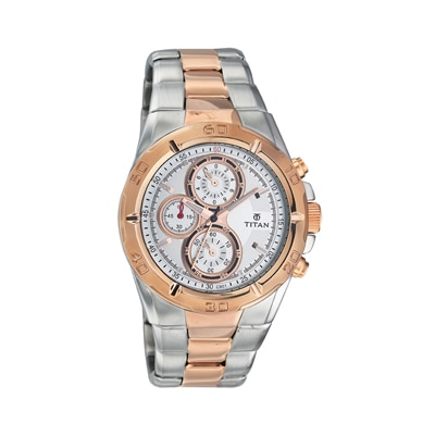 Titan 9308Km01 Men Analog Watch