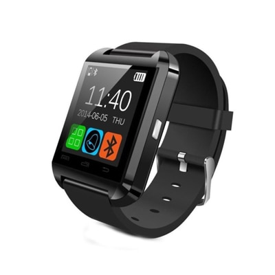 U8 Black Smart Watch With Charger