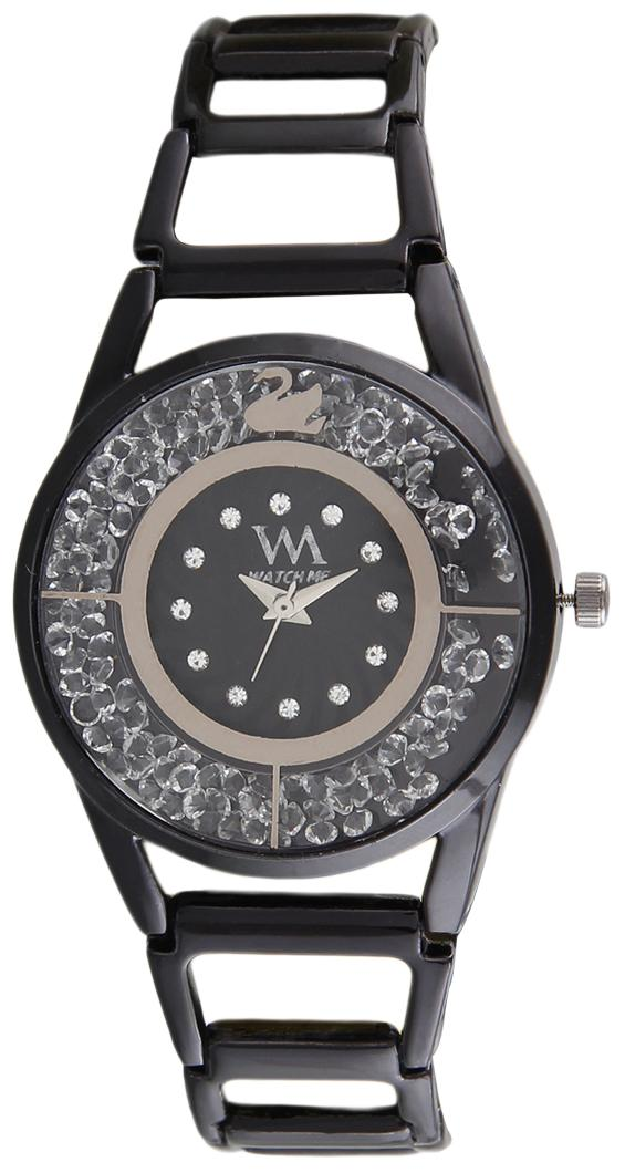 Watch Me Analog Watch Black Black Stainless Steel strap watch for Women WMAL-316