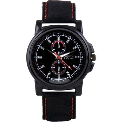 Youth Club Black Analog Watch