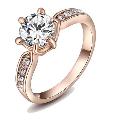 Kaizer Wedding Engagement 18K Rose Gold Plated Ring