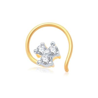 Sukkhi Briliant Gold And Rhodium Plated Cz Nose Pin
