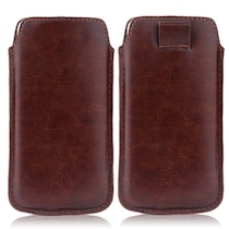 Wow Pouch For Micromax Bolt A58 (Brown)