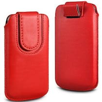 Wow Pouch For Micromax Canvas Ego A113 (Red)