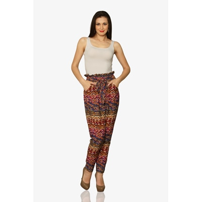 Miss Chase Multicolor High Waist Pants