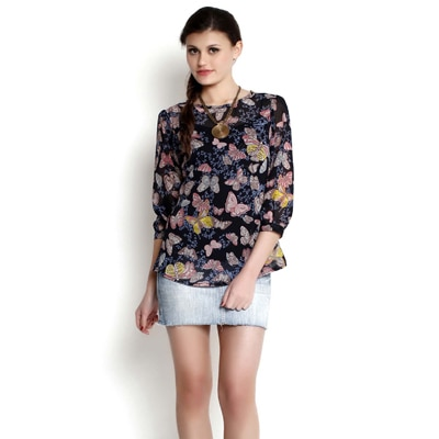 The Gud Look Butterfly Printed Top