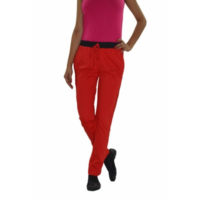 DFH Red Cotton Track Pants