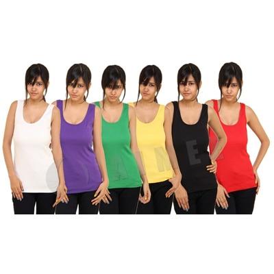 Phalin Pack Of 6 -Premium Middi Slips Vest