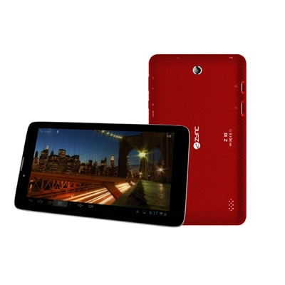 Zync Z18 2G Calling Tablet With Free Keyboard (Red)