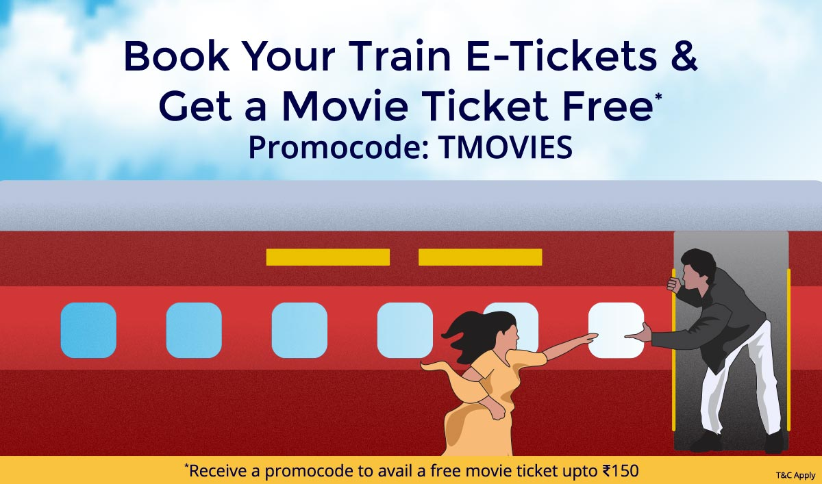Book Train E Tickets | Get a Movie ticket Free