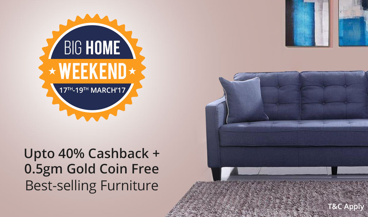Furniture Best Sellers Upto 25000 cashback + 0.5 gm Free gold coin