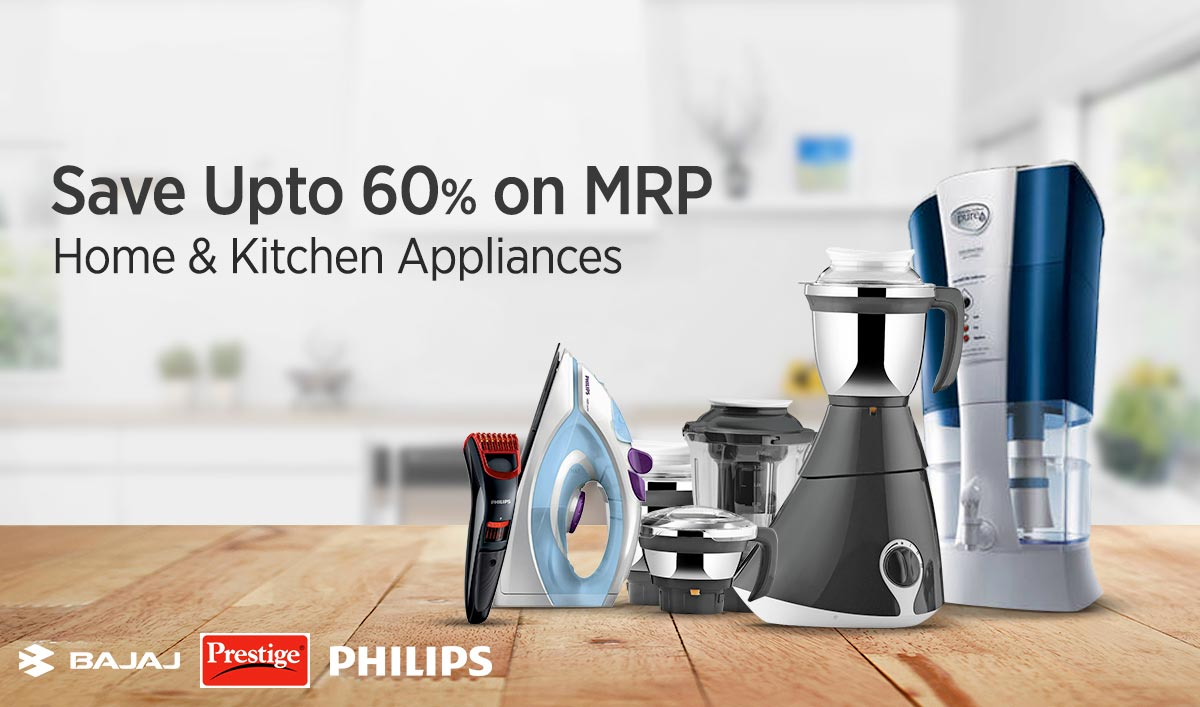 Upto 70% Cashback Kitchen Appliances